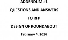 Questions for Roundabout RFP