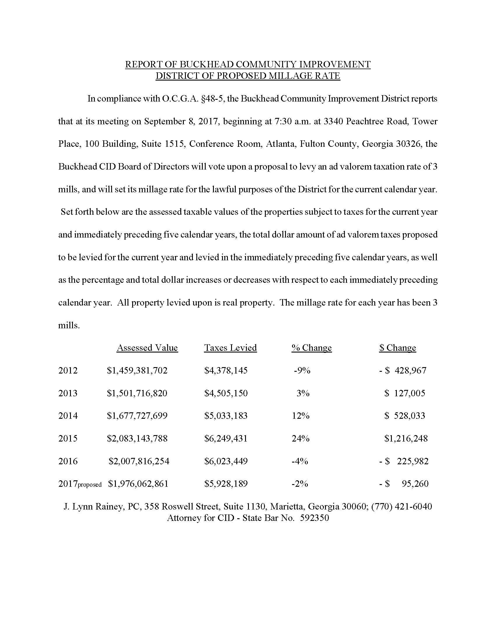 BCID Millage Notice - 2017